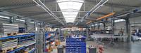 Produktionshalle mit Mehrschalendach