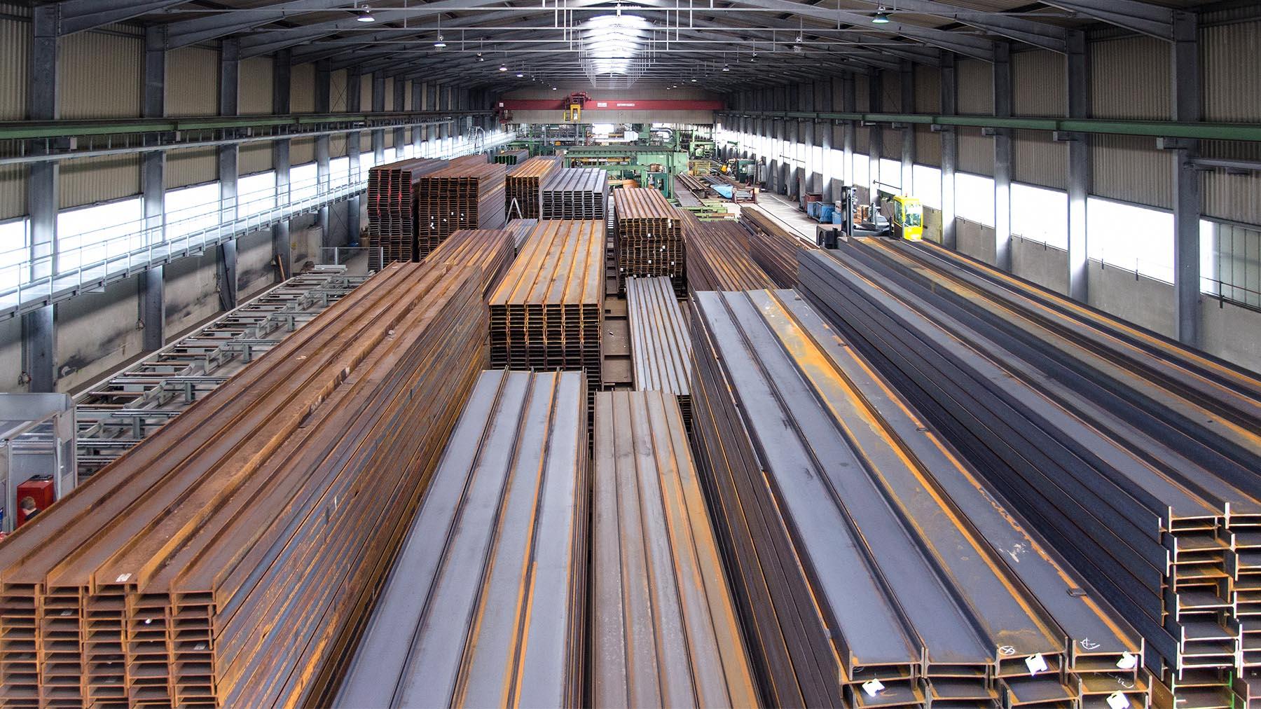 Stahllager am Standort Osterhofen