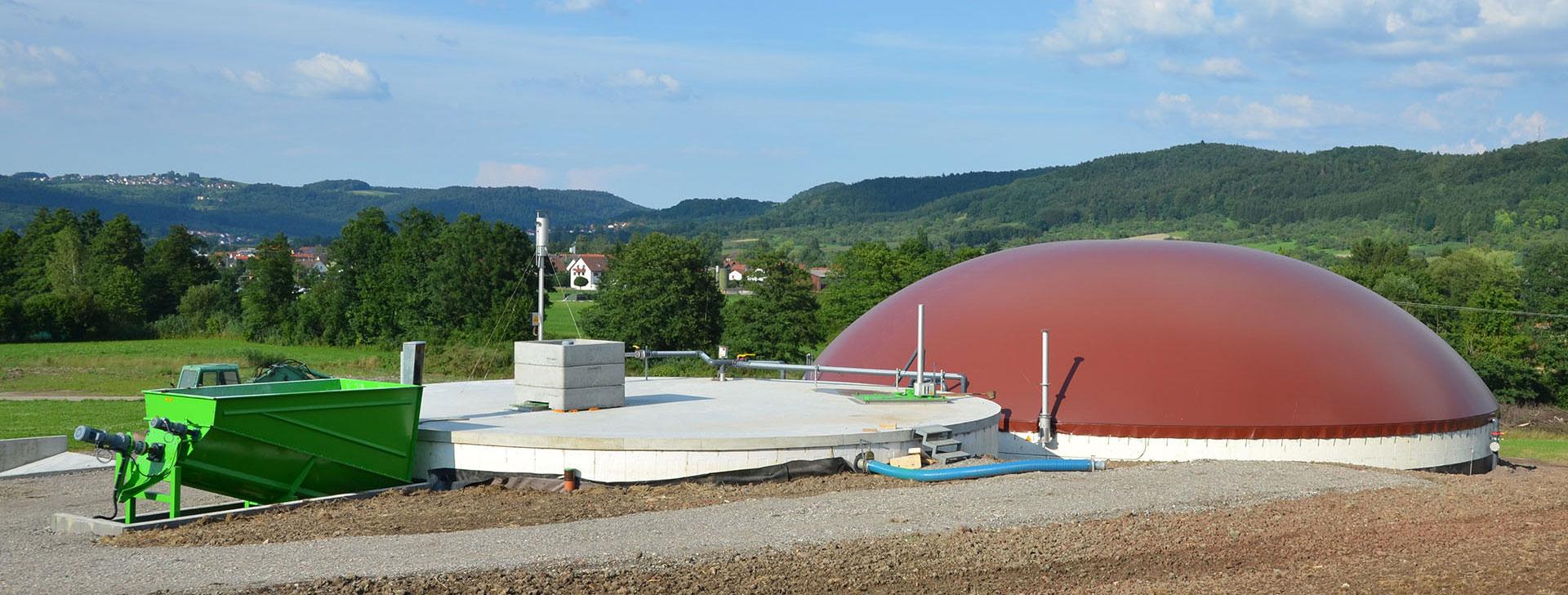 Biogasanlage mit Güllegrube
