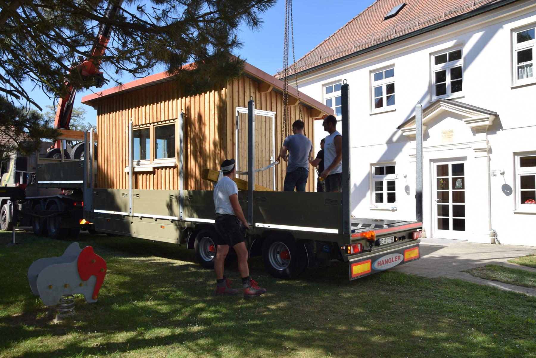 Azubi-Projekt Gartenhaus Montage