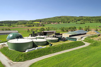 Biogasanlage aus Beton