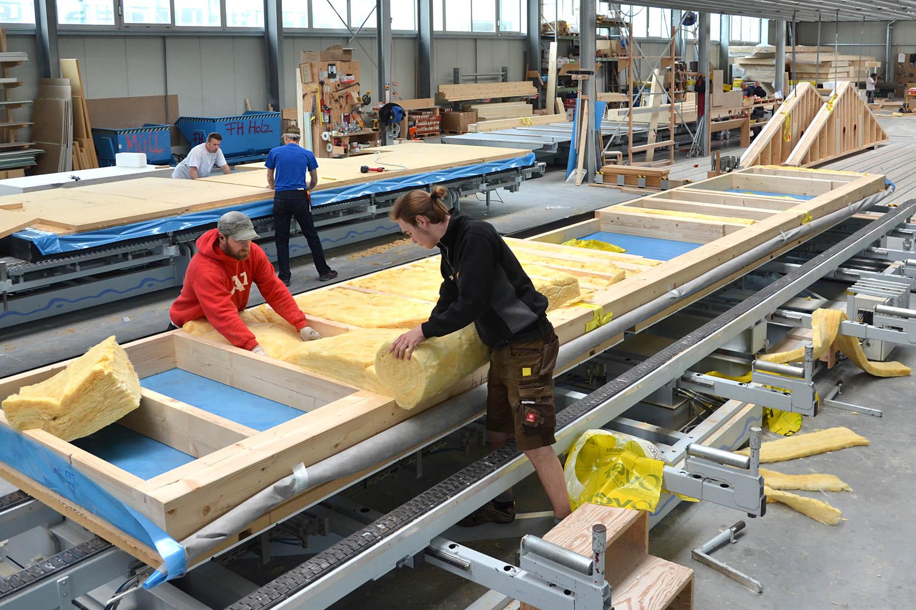Holztafelbauproduktion