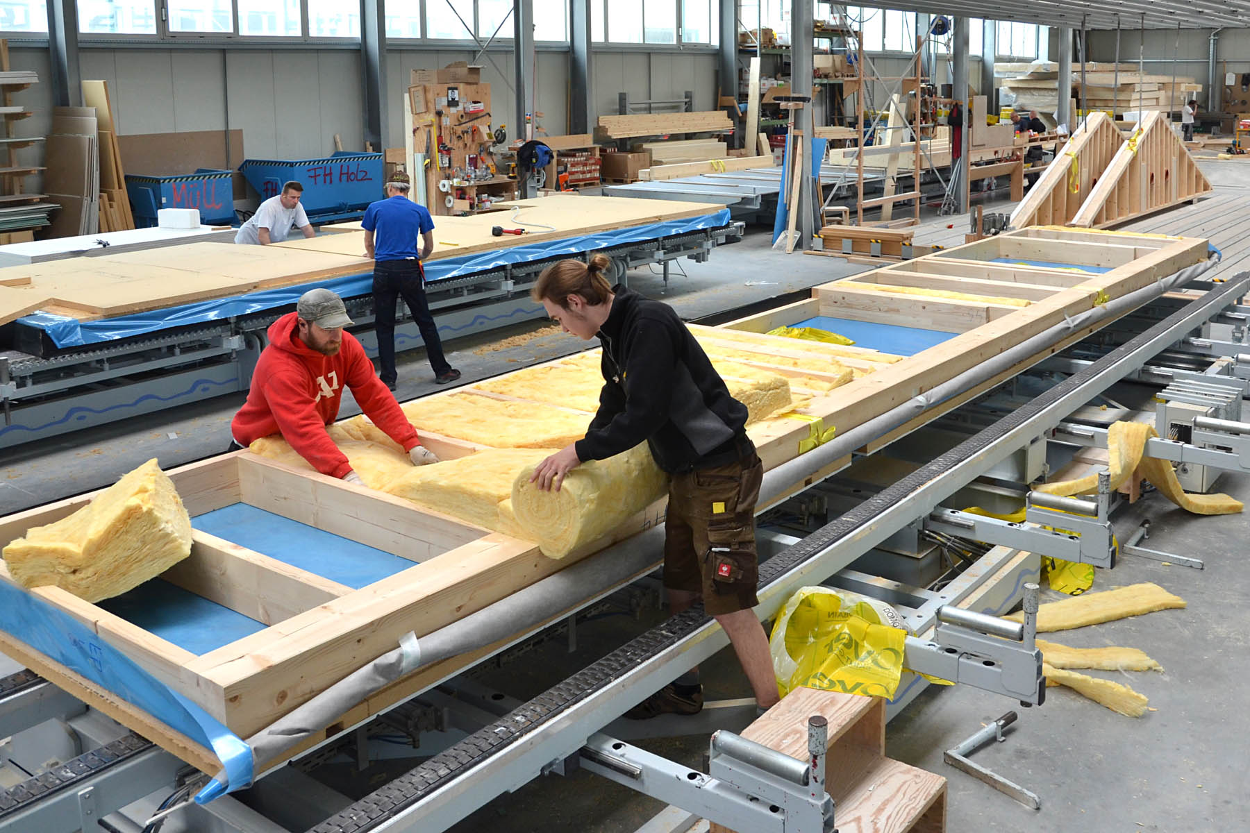 Produktion Holztafelbauwand