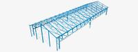 Stahlbinder mit Fachwerkträger