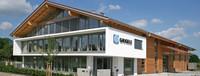architektonisches Bürogebäude mit Satteldach