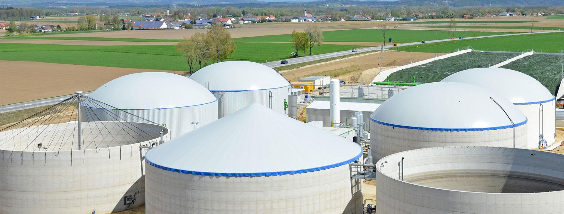 Behälter einer Biogasanlage