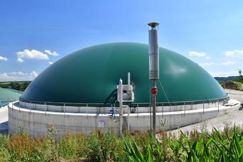 Biogasbehälter aus Beton