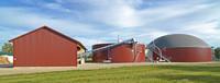 Biogasanlage mit Technikgebäude