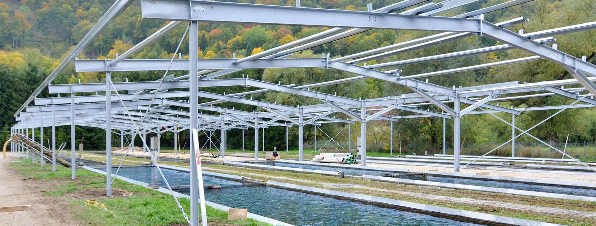 Stahlkonstruktion auf Spinnanker