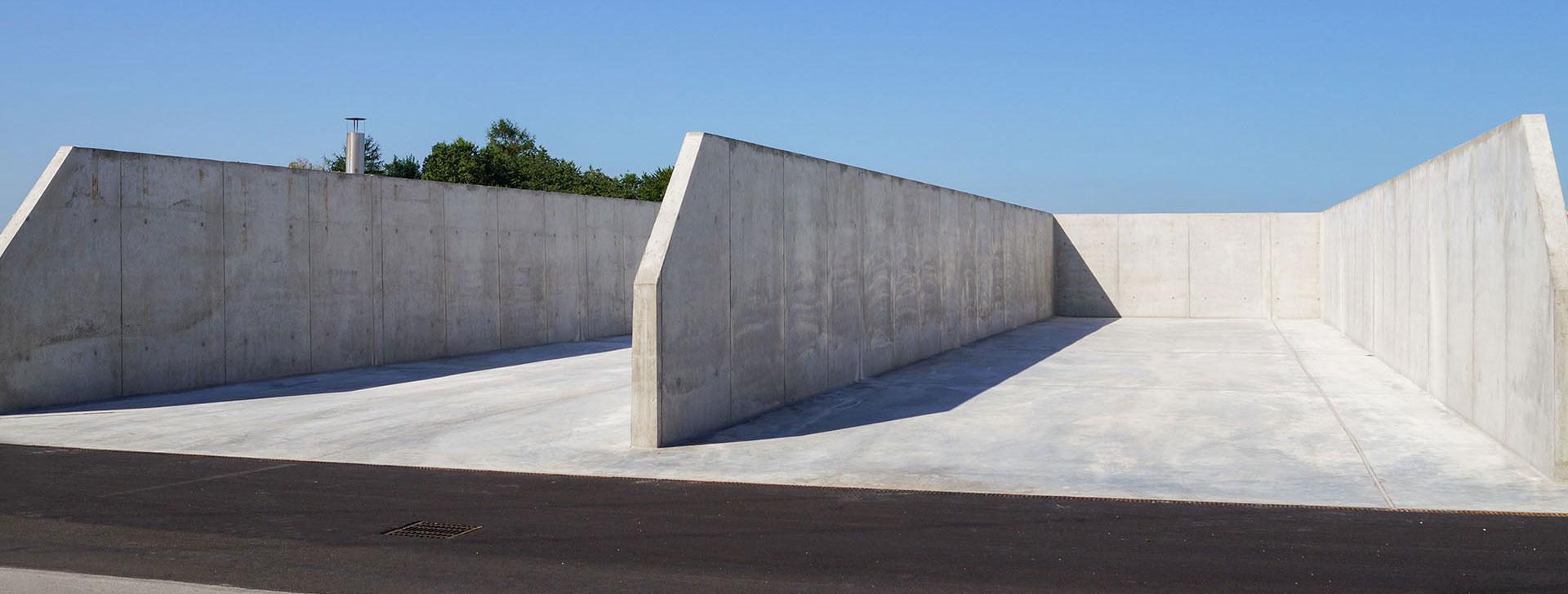 Silowände aus Beton