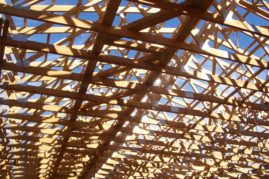 Nagelplattenbinderkonstruktion