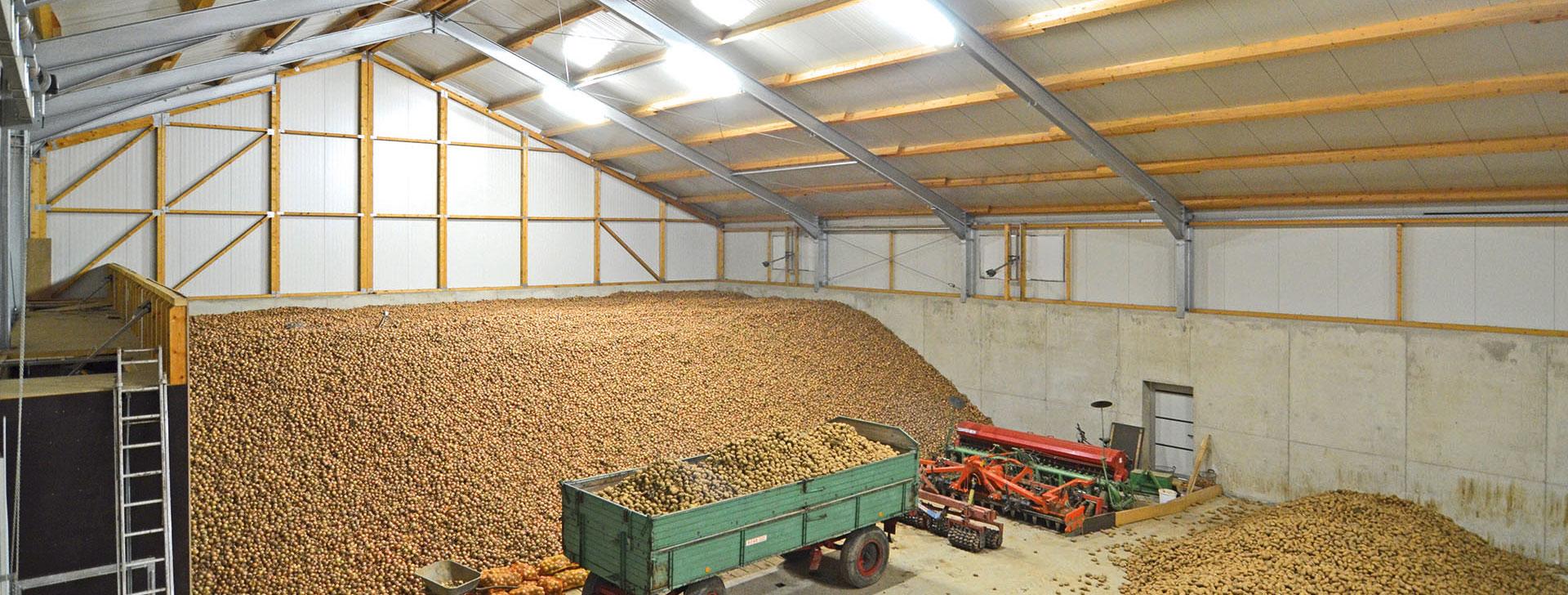 Kartoffellagerhalle