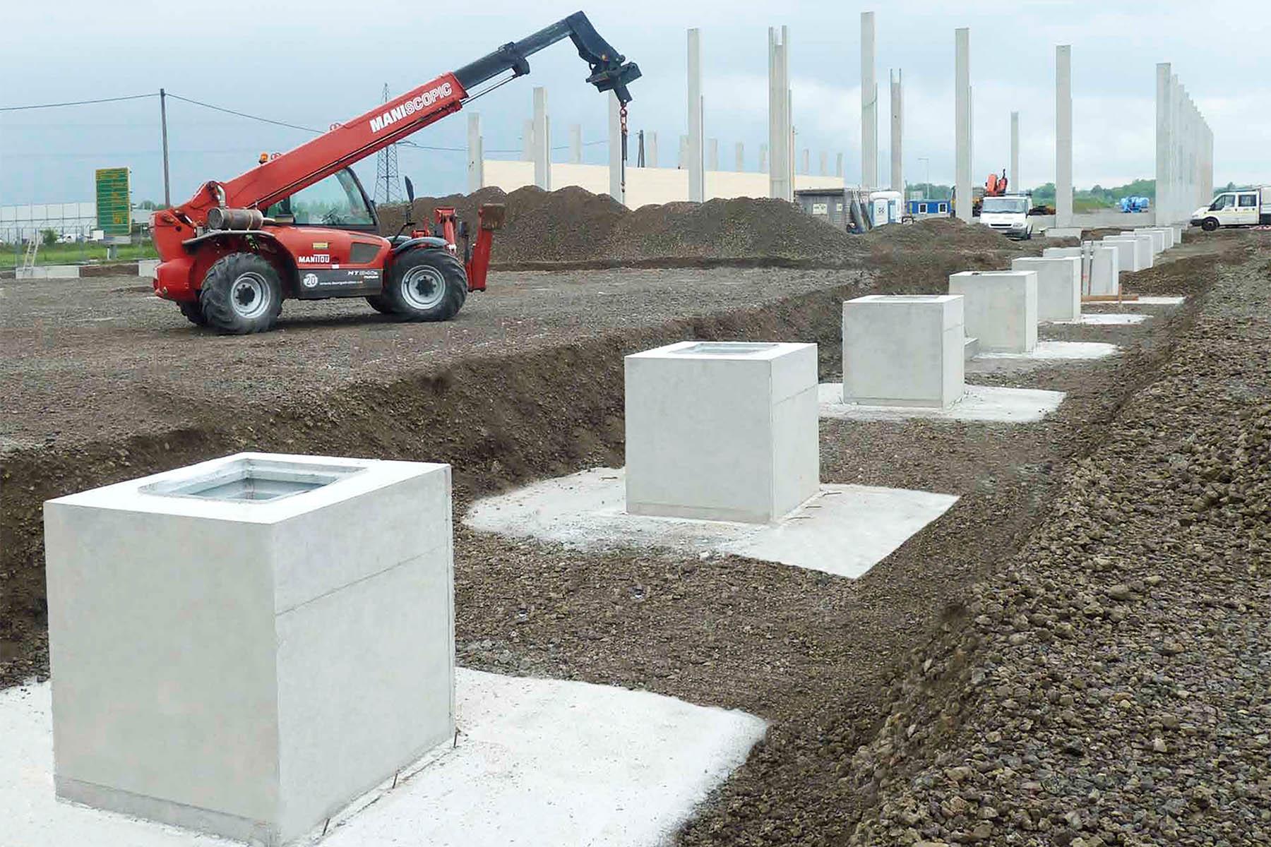 Fundamente und Stützen aus Beton