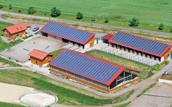 Reitanlage mit Photovoltaik