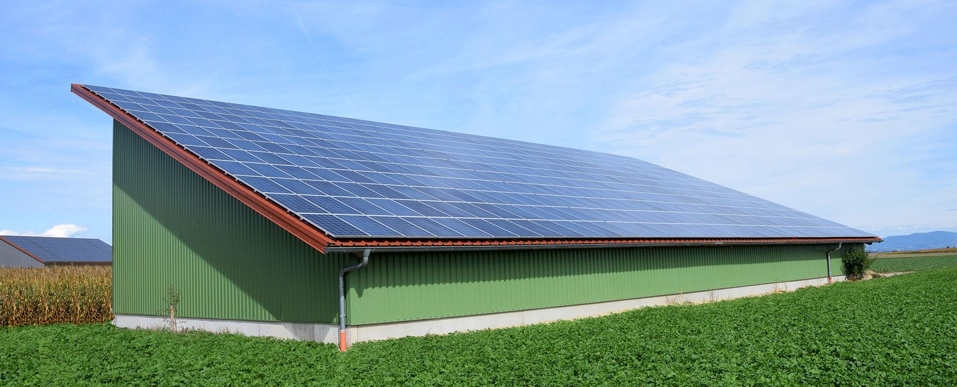 Pulthalle mit Photovoltaik
