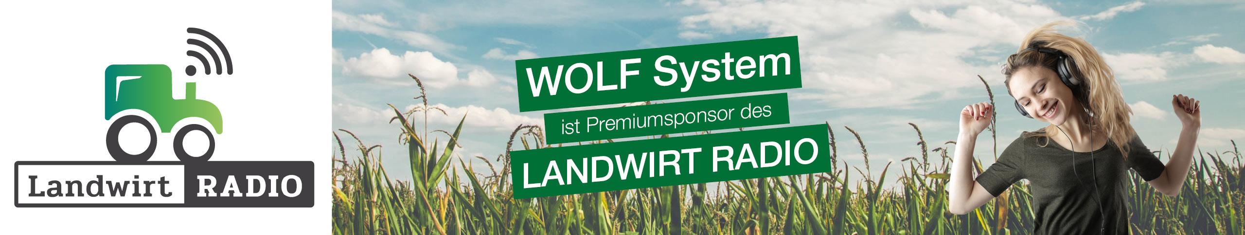 WOLF System ist Sponsor des Landwirt RADIO