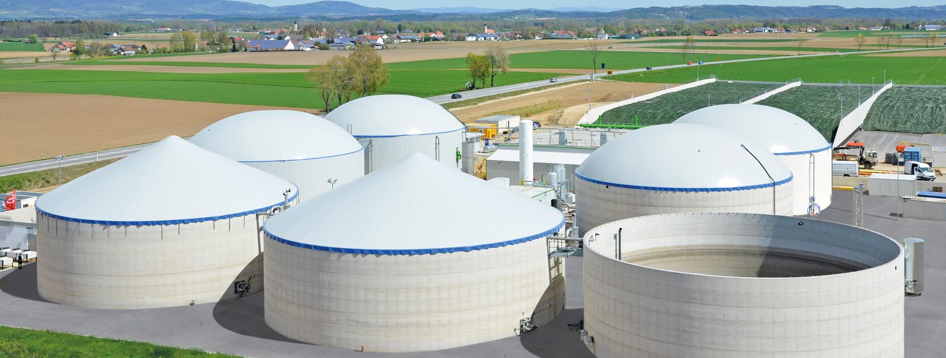 Rundbehälter für Biogasanlage
