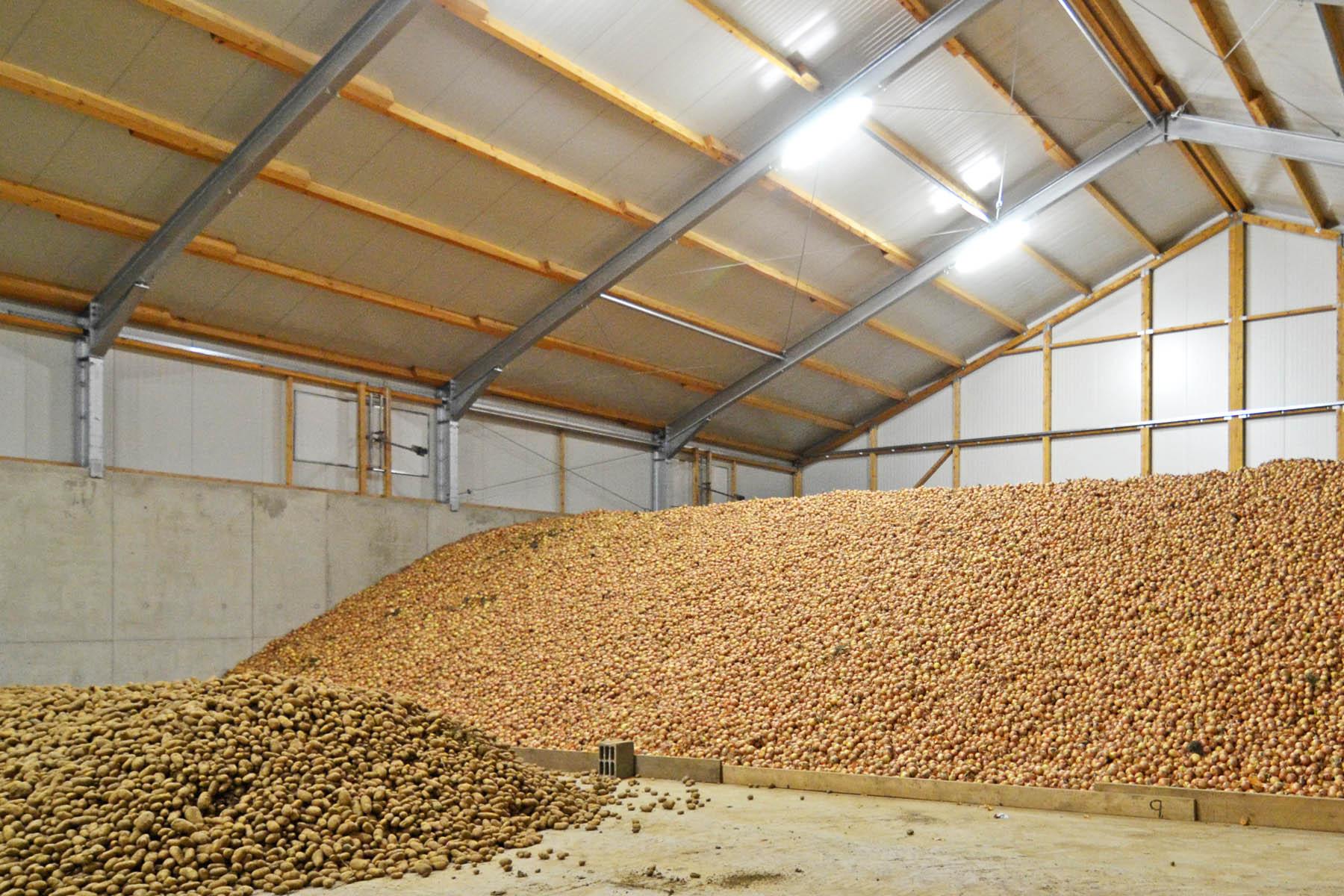 Lagerhalle für Kartoffeln und Zwiebel