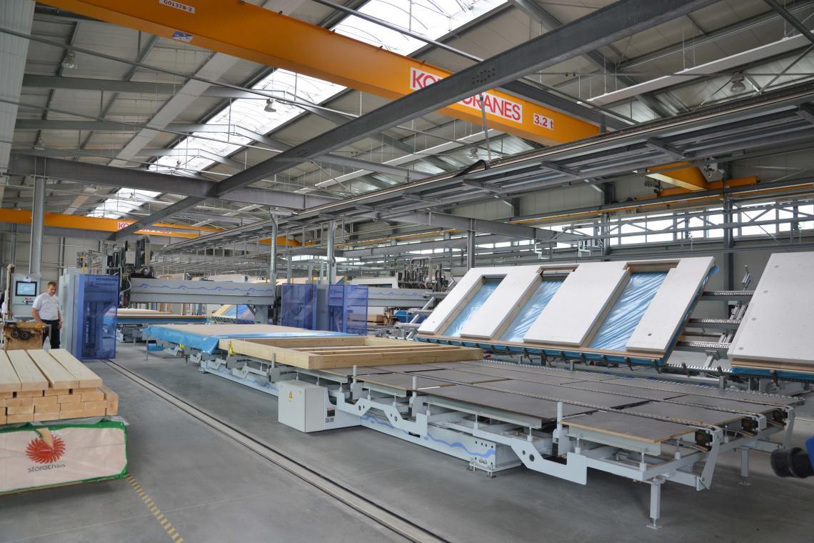 Produktion Holzwand