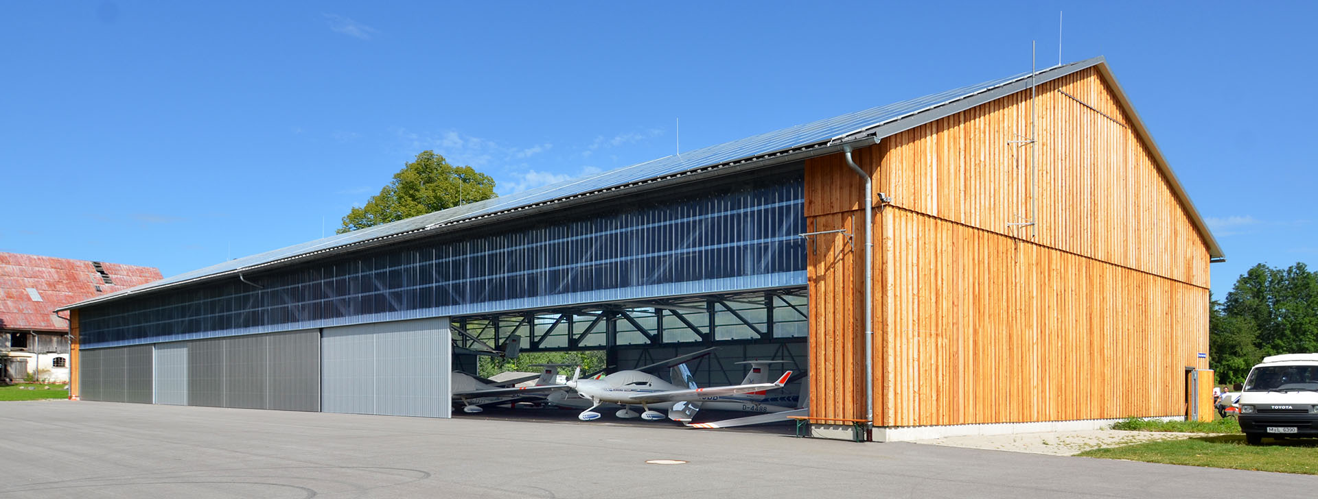 Halle für Segelflugzeuge