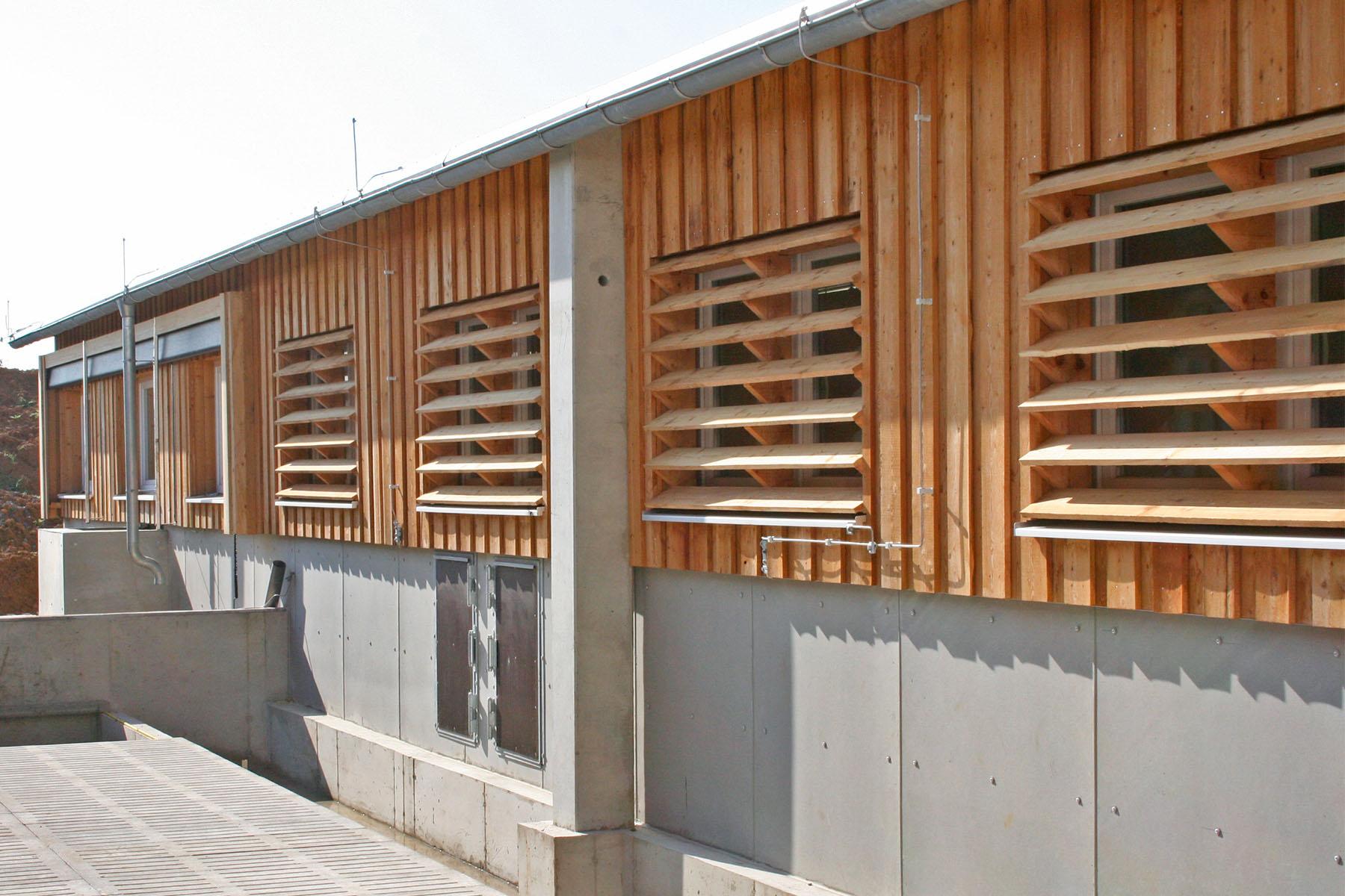 Holz Beton Wandkonstruktion